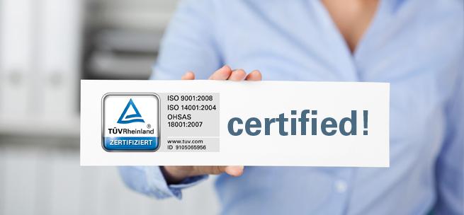NanoFocus: Certifications